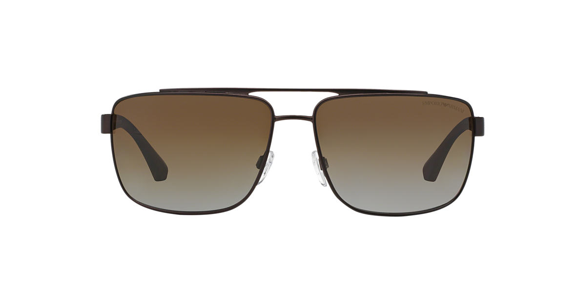 EMPORIO ARMANI Brown EA2018 64 Brown polarised lenses 64mm