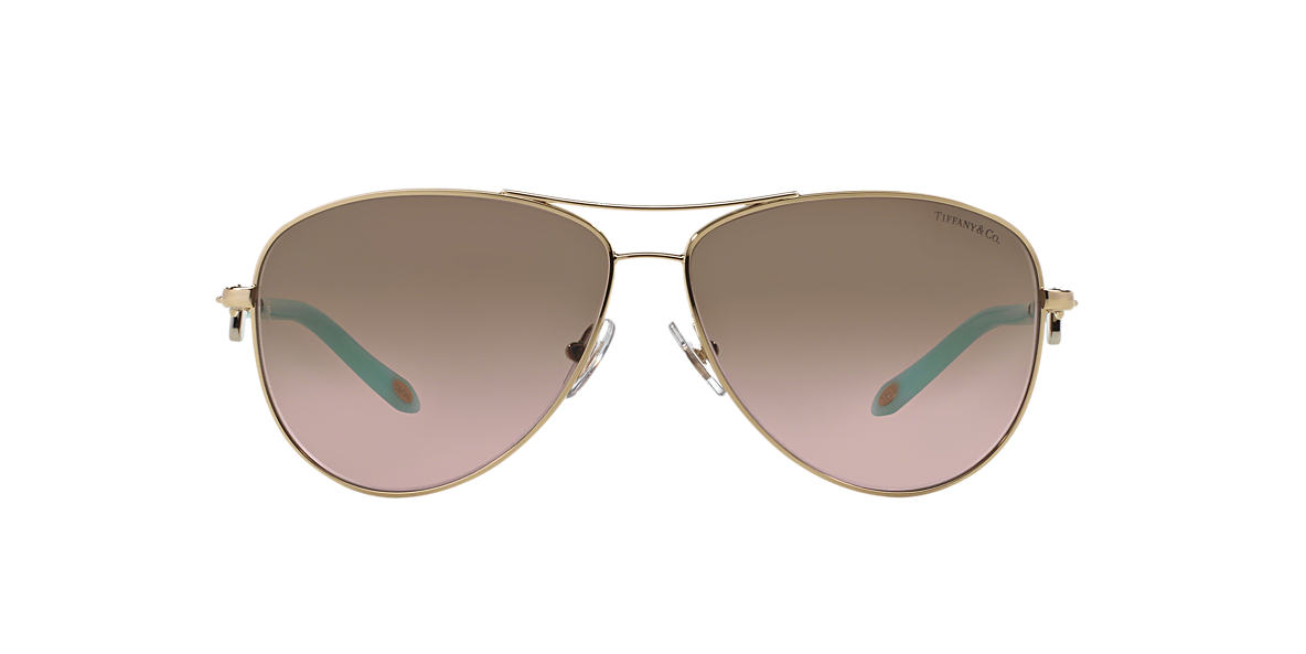 TIFFANY & CO Gold TF3034 Brown lenses 60mm