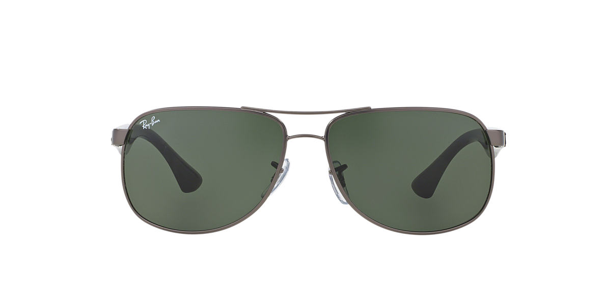 RAY-BAN Gunmetal Matte RB3502 61 Green lenses 61mm