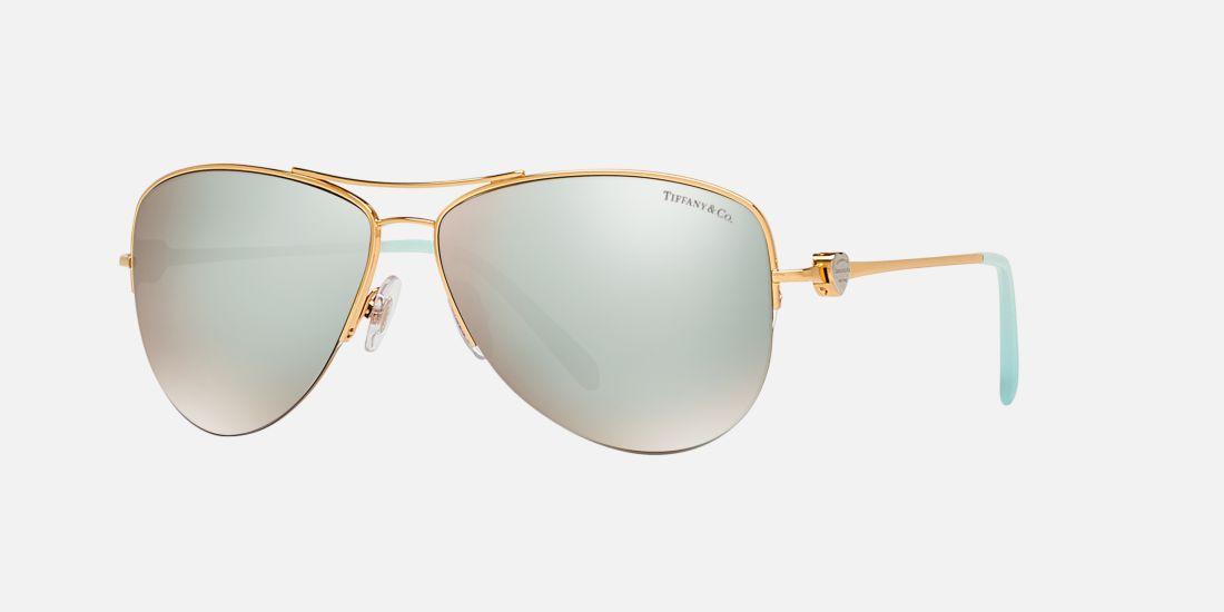 29579d37c93 Tiffany And Co Gold Aviator Sunglasses