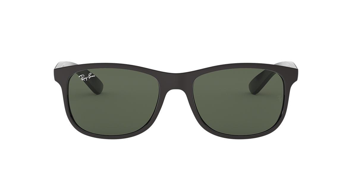 RAY-BAN Black RB4202F Green lenses 57mm