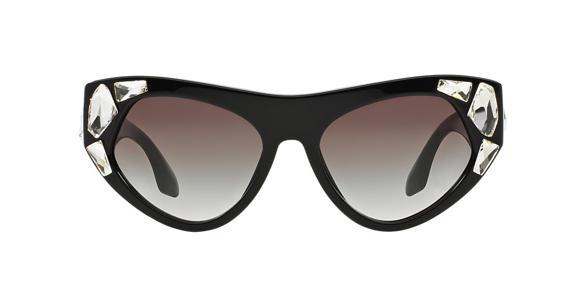 PRADA Black PR 21QS 56 Grey lenses 56mm