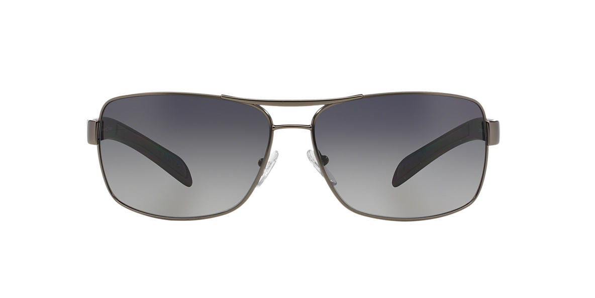 PRADA LINEA ROSSA Silver PS 54IS Grey polarised lenses 65mm