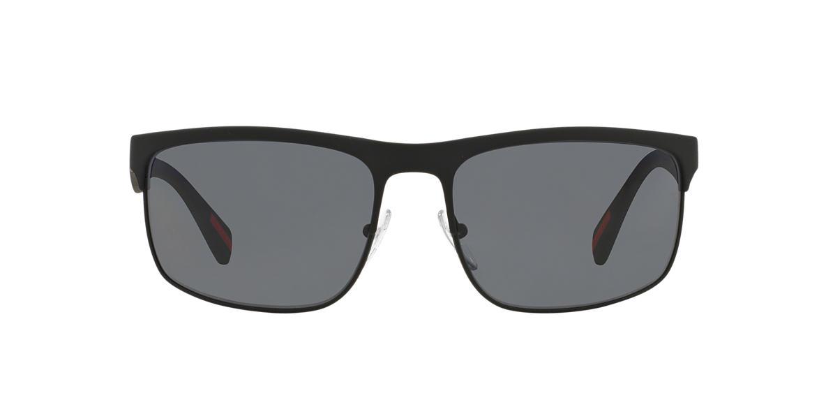 PRADA LINEA ROSSA Black PS 56PS Grey polarised lenses 60mm