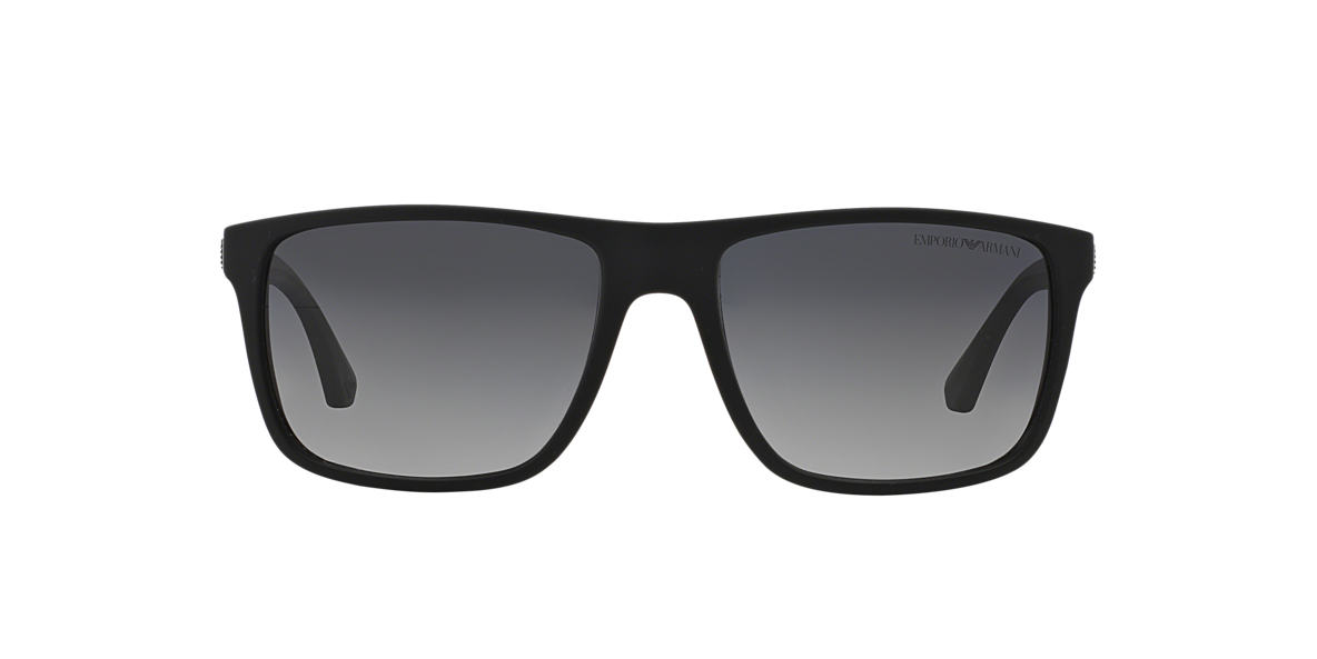 EMPORIO ARMANI Black EA4033 57 Grey polarised lenses 56mm