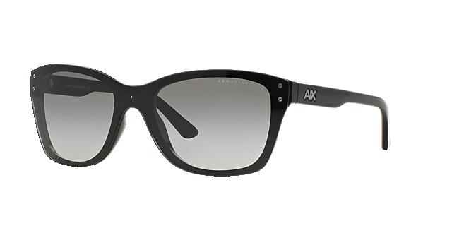 Image of Armani Exchange Black Square Sunglasses - ax4027s