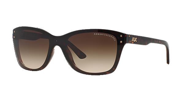 Image of Armani Exchange Brown Square Sunglasses - ax4027s