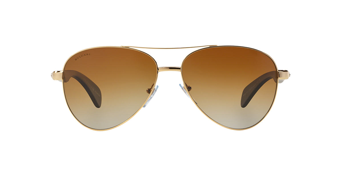 BVLGARI Gold BV5032TK Brown polarised lenses 62mm