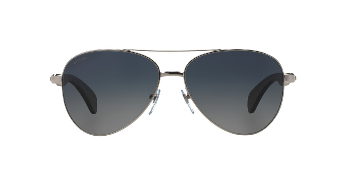 BVLGARI SUN Silver BV5032TK 62 Grey polarized lenses 62mm