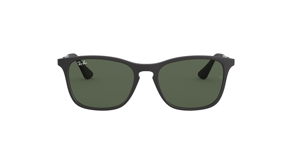 RAY-BAN CHILDRENS Black Matte RJ9061S 49 Green lenses 49mm