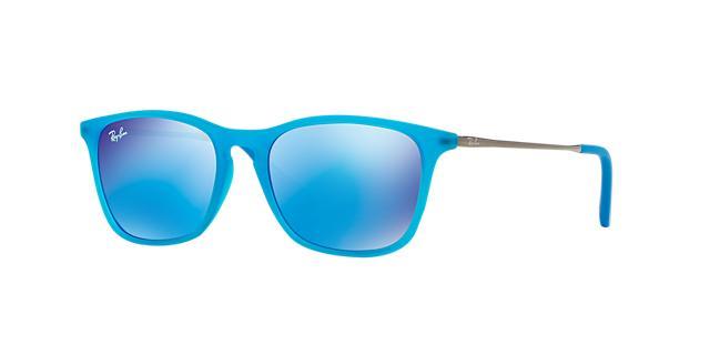 Ray-Ban Jr. Blue Rectangle Sunglasses - rj9061s 8053672291742