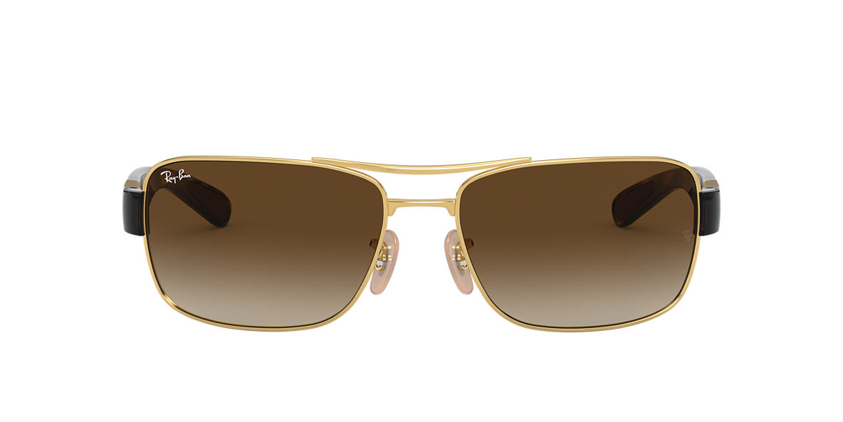 RAY-BAN Gold RB3522 61 Brown lenses 61mm