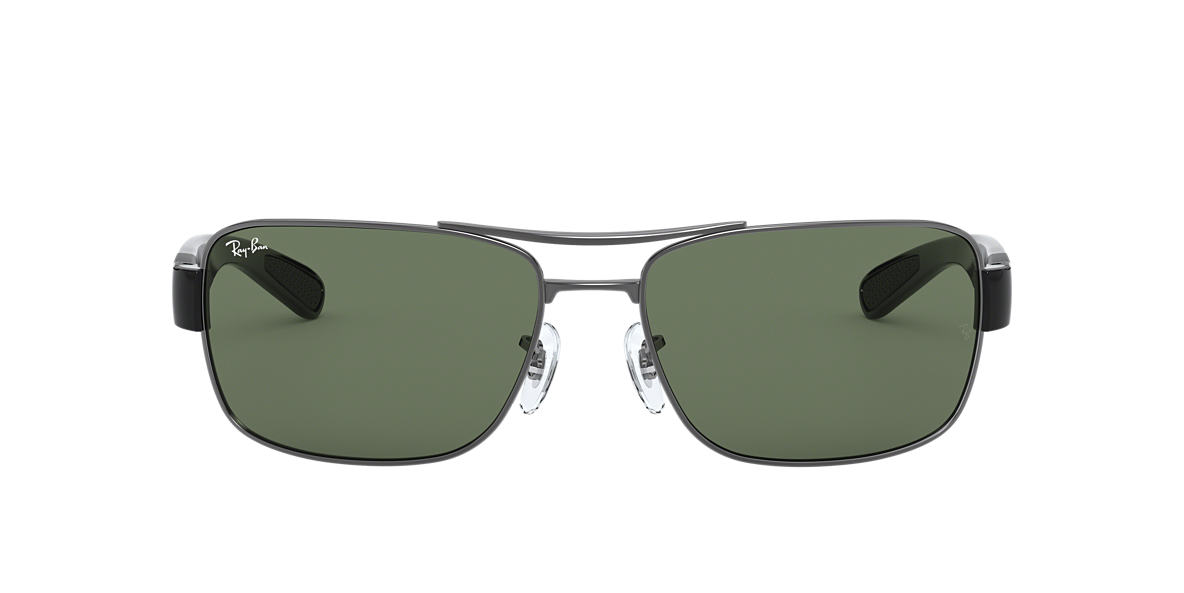RAY-BAN Gunmetal RB3522 61 Green lenses 61mm