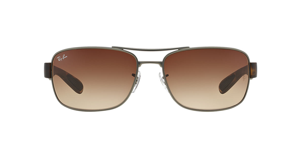 RAY-BAN Gunmetal Matte RB3522 61 Brown lenses 61mm