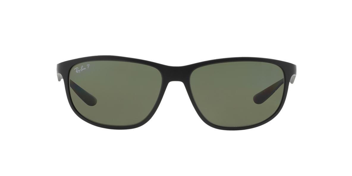 RAY-BAN Black RB4213 61 Green polarised lenses 61mm