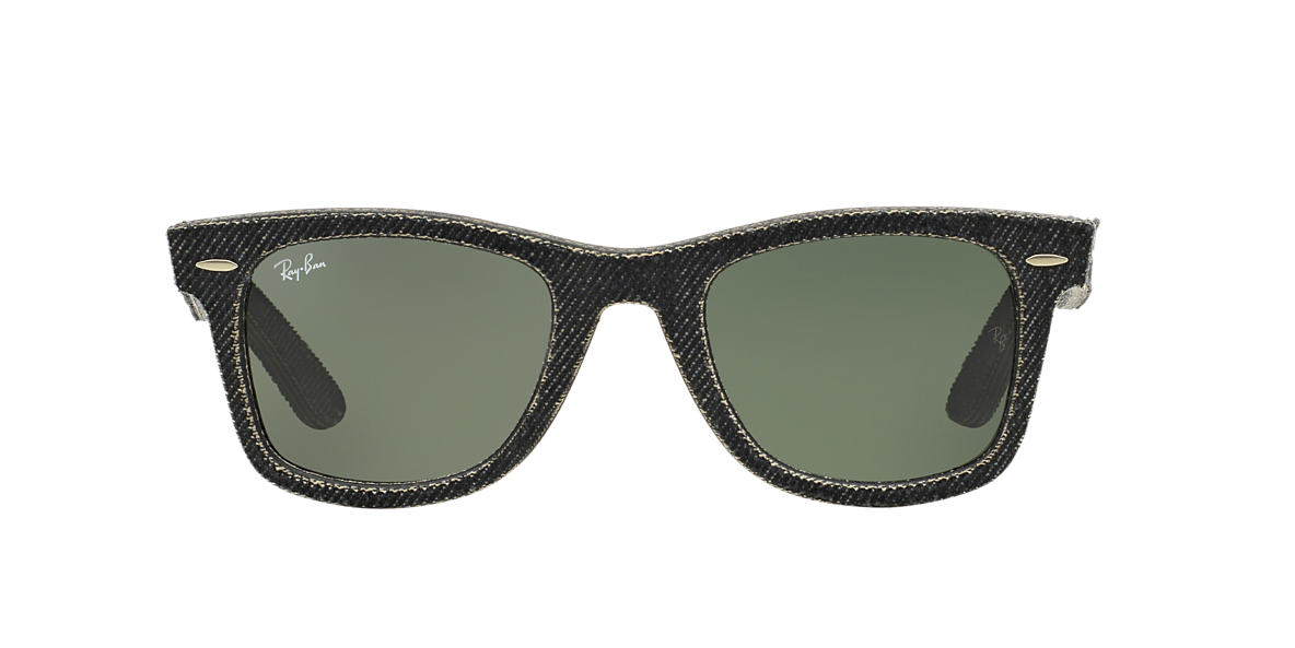 RAY-BAN Grey RB2140 50 ORIGINAL WAYFARER Green lenses 50mm