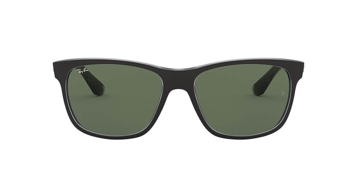 RAY-BAN Black RB4181 57 Green lenses 57mm