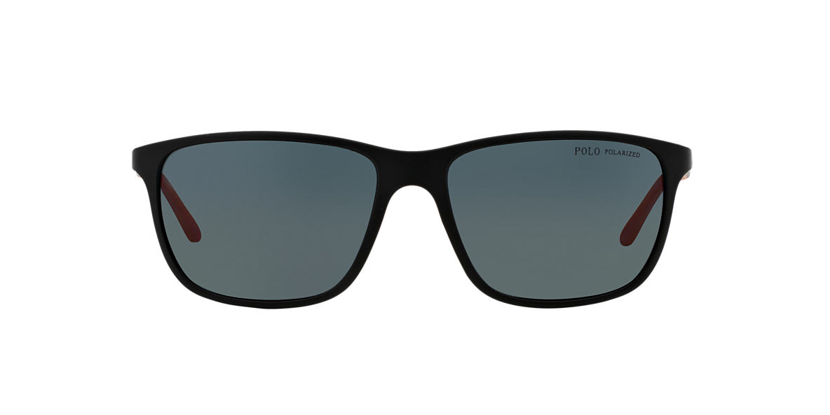 POLO RALPH LAUREN Black PH4092 58 Grey polarized lenses 58mm