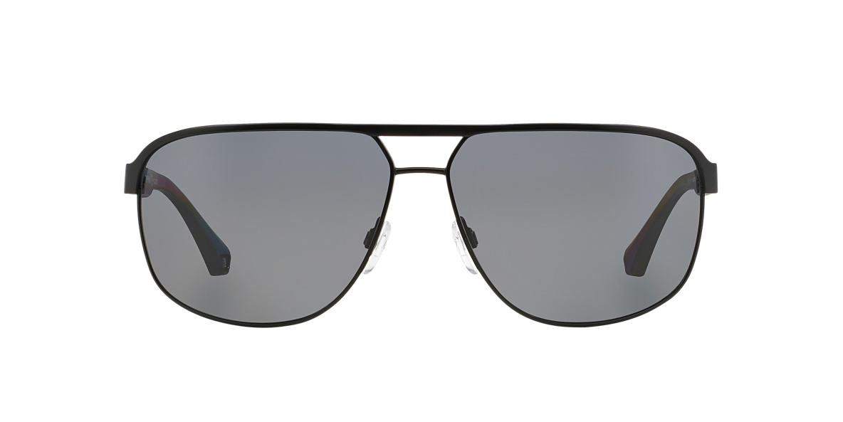EMPORIO ARMANI Black Matte EA2025 64 Grey polarized lenses 64mm