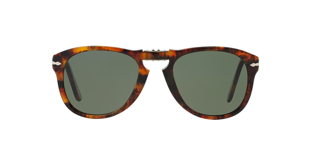 PERSOL Brown PO0714 54 FOLDING Green polarised lenses 54mm