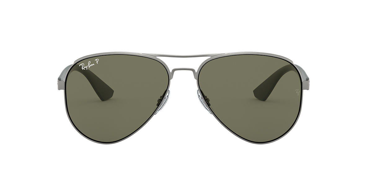 RAY-BAN Gunmetal Matte RB3523 59 Green polarized lenses 59mm