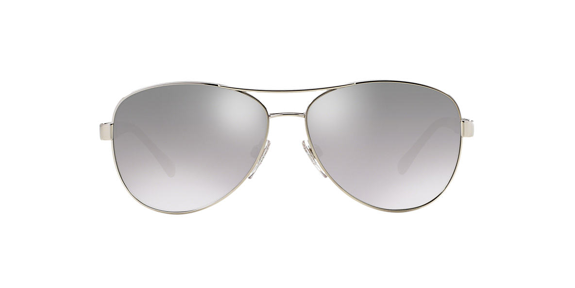 BURBERRY Silver BE3080 59 Grey lenses 59mm