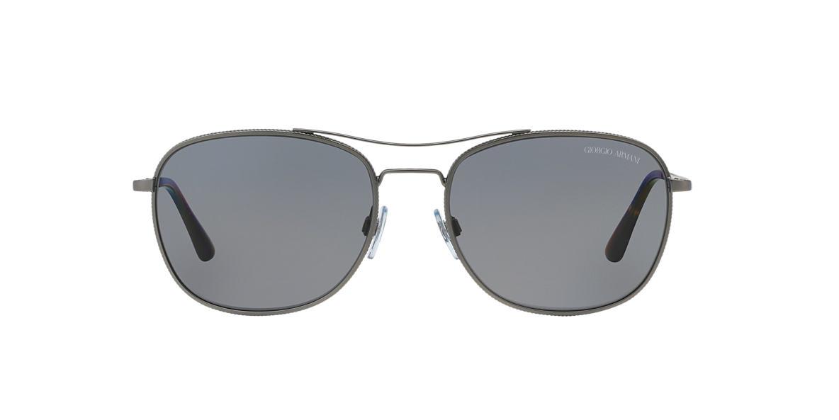 GIORGIO ARMANI Gunmetal Matte AR6021 57 Grey polarized lenses 57mm