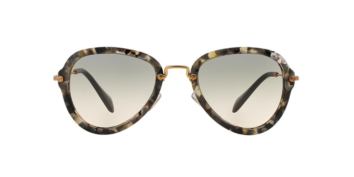 MIU MIU White MU 03QS 55 Brown lenses 55mm