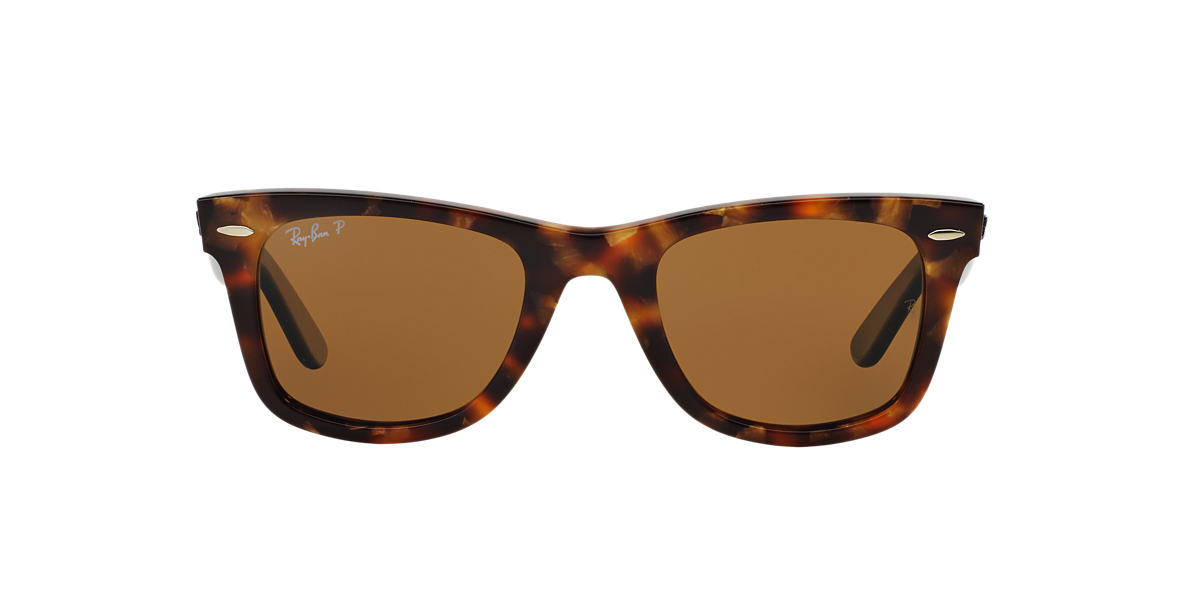 RAY-BAN Black RB2140 50 ORIGINAL WAYFARER Brown polarised lenses 50mm