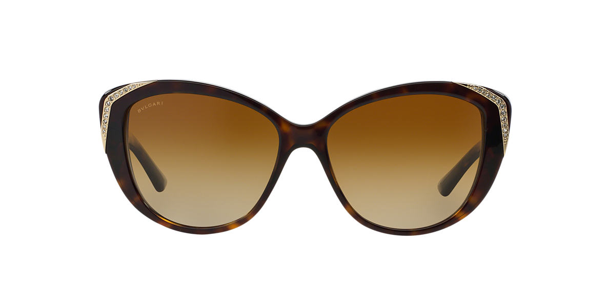 BVLGARI Brown BV8151BM Brown polarised lenses 57mm
