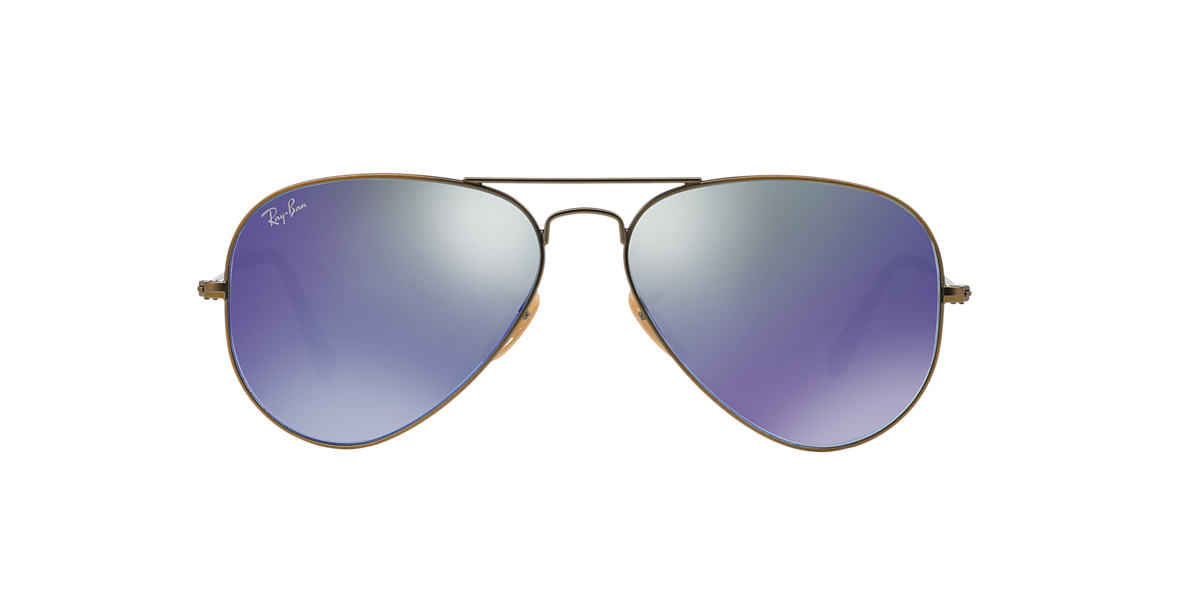 RAY-BAN Bronze Matte RB3025 55 ORIGINAL AVIATOR Blue lenses 55mm