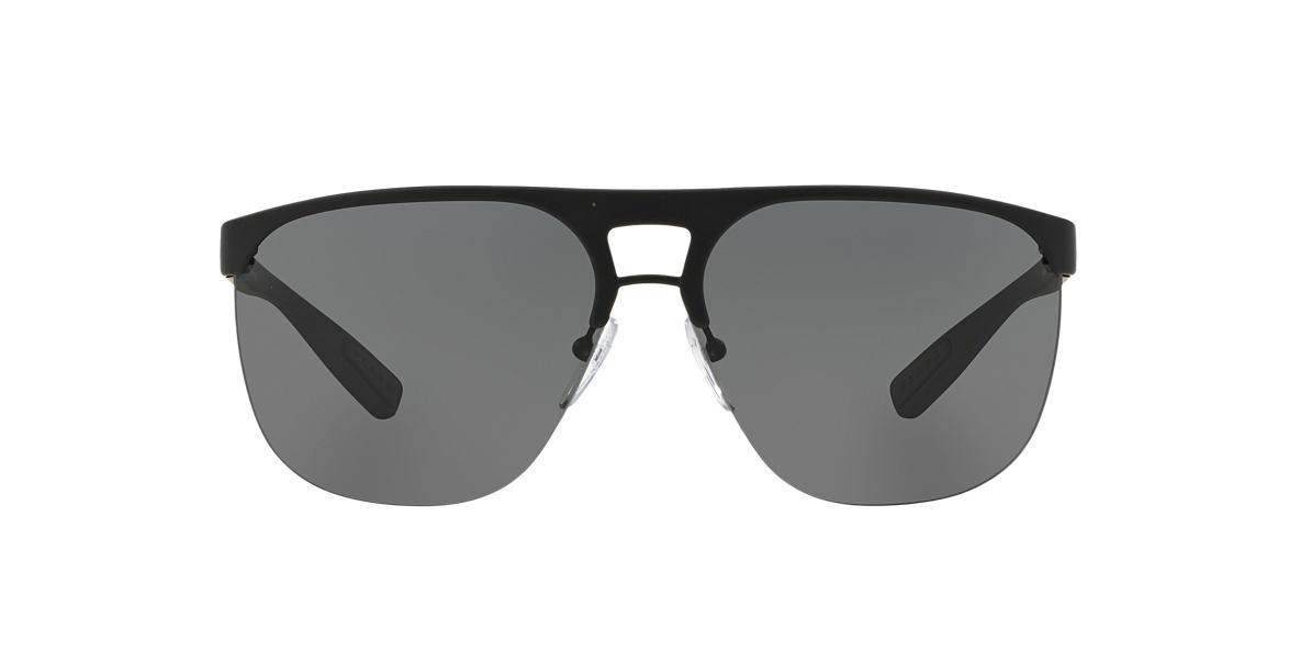 PRADA LINEA ROSSA Black PS 53QS 34 Grey lenses 34mm