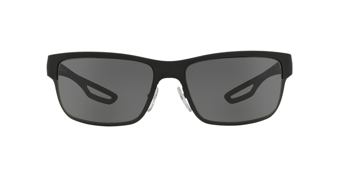 PRADA LINEA ROSSA Black PS 50QS 64 Grey lenses 64mm