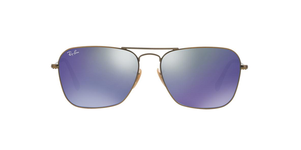 RAY-BAN Bronze Matte RB3136 58 Blue lenses 58mm