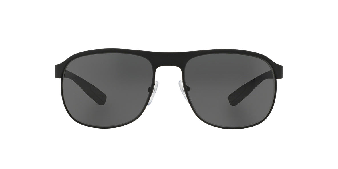 PRADA LINEA ROSSA Black PS 51QS 60 Grey lenses 60mm