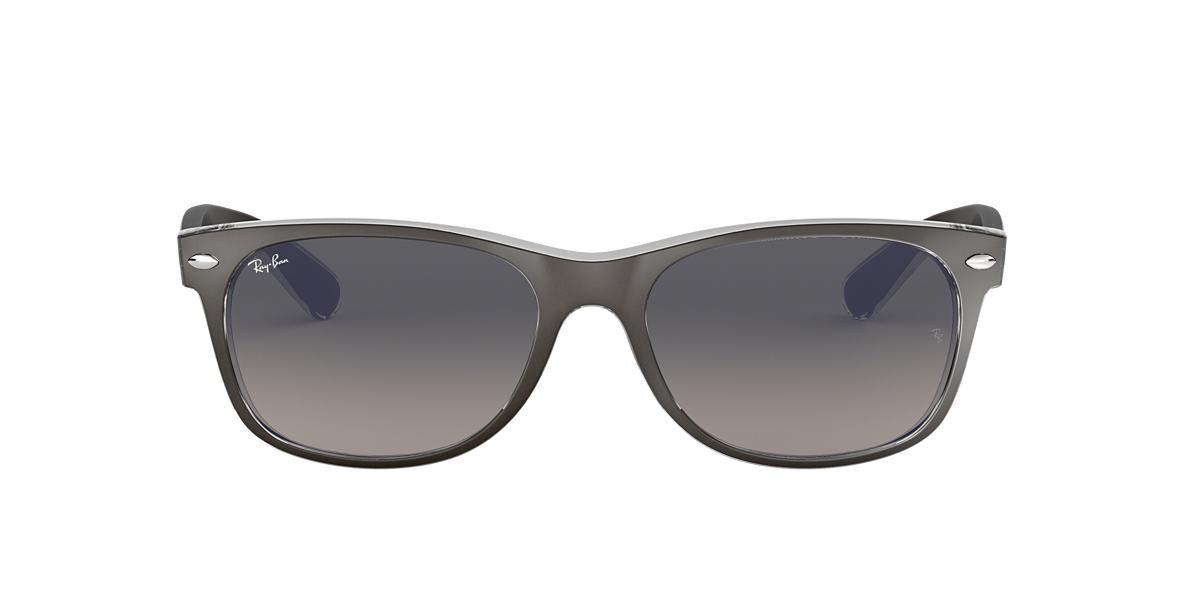 ray ban sunglasses gunmetal  ray ban rb2132 55 new wayfarer 55 grey & gunmetal sunglasses