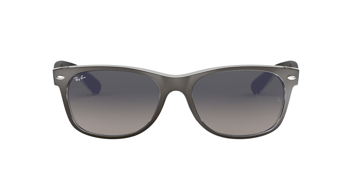RAY-BAN Gunmetal RB2132 55 NEW WAYFARER Grey lenses 55mm