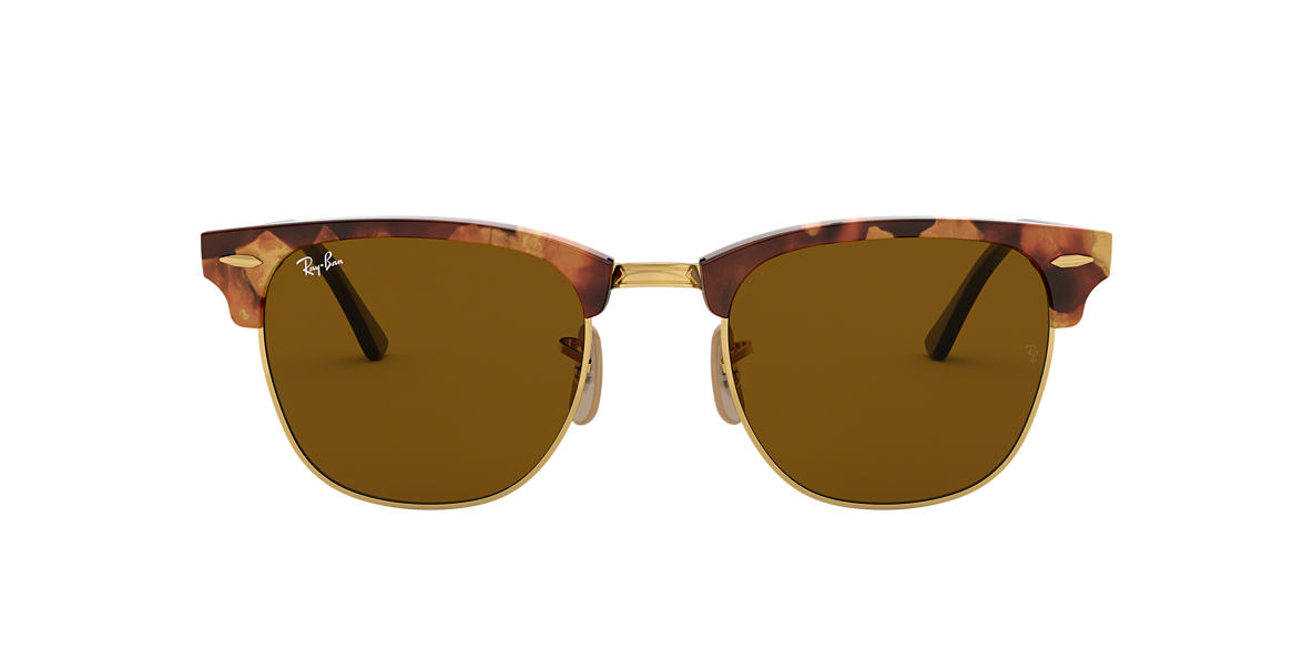 RAY-BAN Tortoise RB3016 51 CLUBMASTER Brown lenses 51mm
