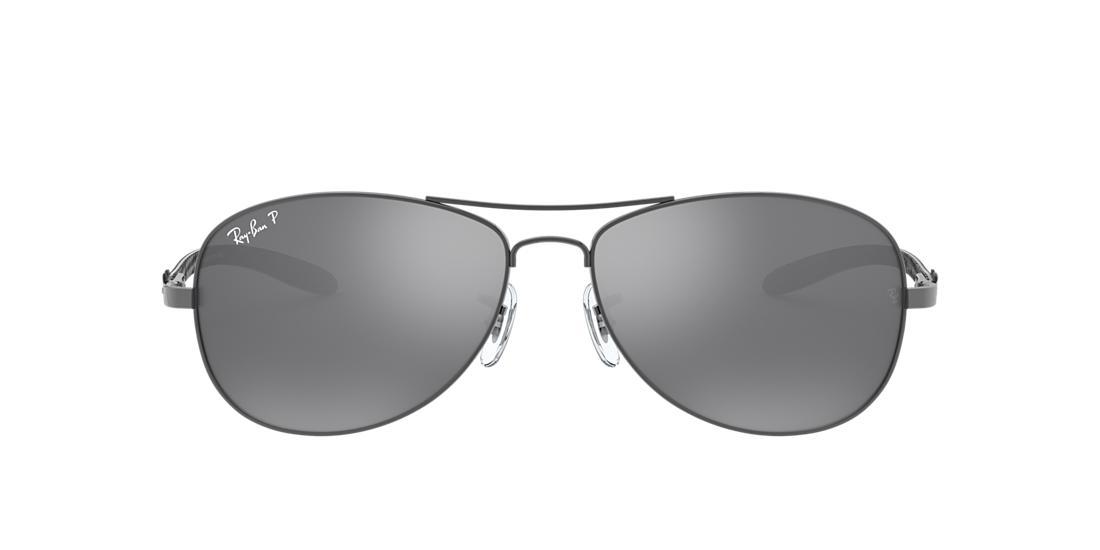 2434ed7c9a Ray-Ban RB8301 56 CARBON FIBRE 56 Silver   Gunmetal Polarized Sunglasses