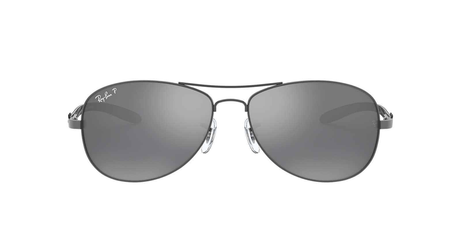 RAY-BAN Gunmetal RB8301 56 Silver polarized lenses 56mm