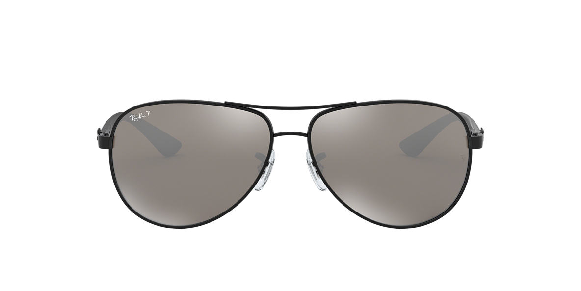 RAY-BAN Black RB8313 (58) Grey polarized lenses 58mm