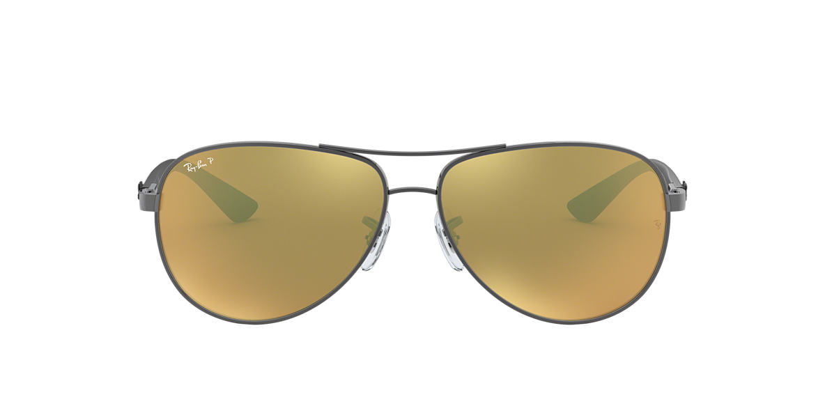 RAY-BAN Silver RB8313 Brown polarised lenses 61mm