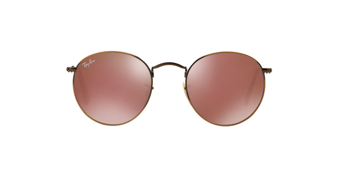 RAY-BAN Bronze Matte RB3447 50 ROUND METAL Rose Gold lenses 50mm