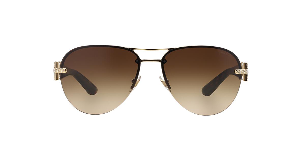 VERSACE Gold VE2159B Brown lenses 59mm