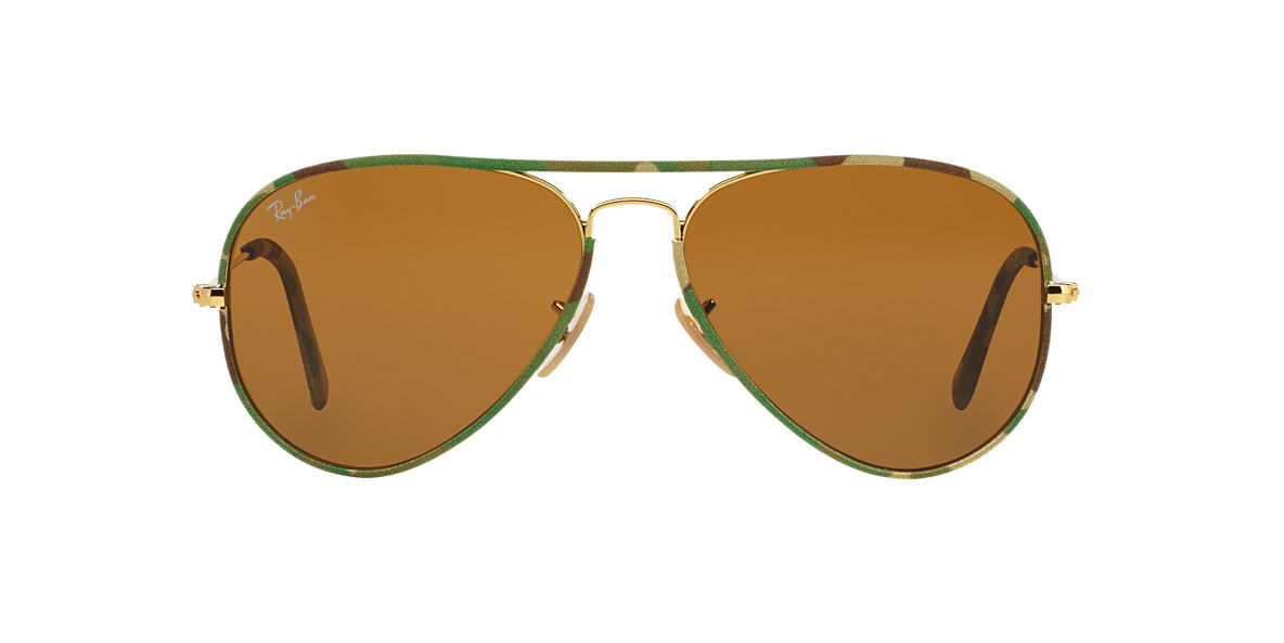 RAY-BAN Multicolor RB3025JM 55 AVIATOR FULL COLOR Brown lenses 55mm