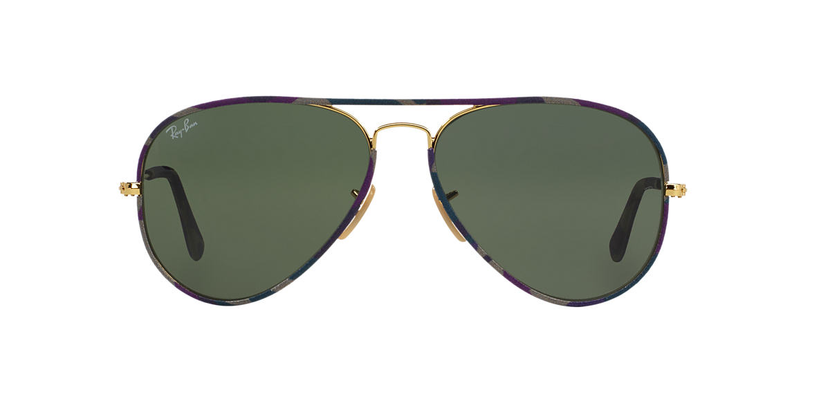 RAY-BAN Purple RB3025JM 55 AVIATOR FULL COLOR Blue lenses 55mm