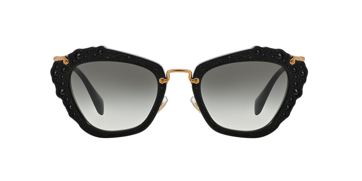 MIU MIU Black MU 04QS Grey lenses 55mm