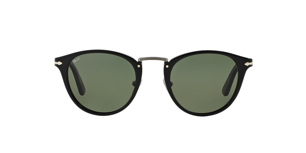PERSOL Black PO3108S Green polarised lenses 49mm