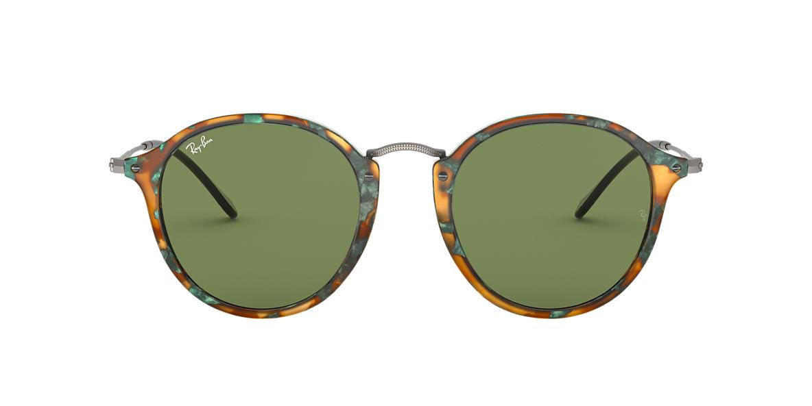 RAY-BAN Tortoise RB2447 49 Green lenses 49mm
