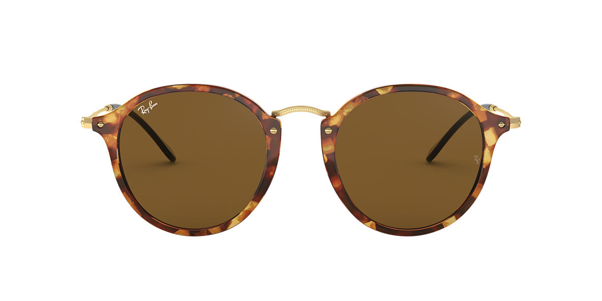 RAY-BAN Tortoise RB2447 49 Brown lenses 49mm
